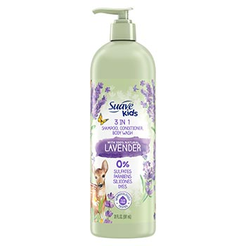 Suave Kids 3-in-1 Shampoo with 100% Natural Lavender